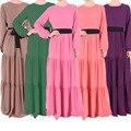 Мода 2015 Случайные Элегантные Дамы Тонкий Тонкий Плюс Размер Исламская Одежда Мусульманская Абая Длиной Макси Платья Женщин Кружевном платье 206