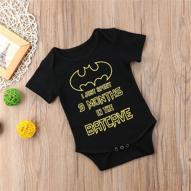 Batman Newborn Kids Baby Boy Girl Romper Jumpsuit Clothes Cute Playsuit Outfits