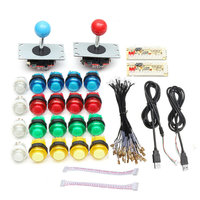 2 Players Arcade DIY Joystick Kits With 20 LED Arcade Buttons 2 Joysticks 2 USB Encoder