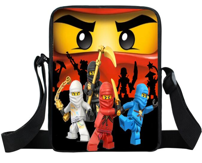 School-Bags Cross-Body Children Small Mini Cartoon for Kids Boys Girls Ninja-Mario-Bros
