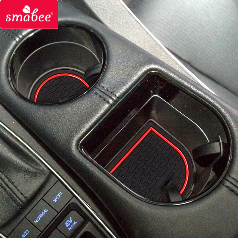 Smabee Gate slot pad For TOYOTA AVALON 2018 2019 Anti-Slip Gate Slot Mat Interior Door Pad Cup Holders Non-slip mats RED WHITESmabee Gate slot pad For TOYOTA AVALON 2018 2019 Anti-Slip Gate Slot Mat Interior Door Pad Cup Holders Non-slip mats RED WHITE