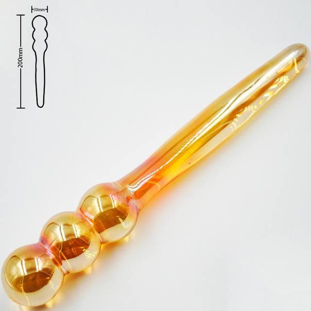 Golden Glass Dildo