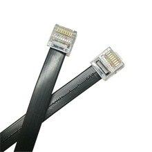 Adaptateur de câble réseau UTP CAT5 pour ordinateur, cordon de raccordement, connecteur plat court RJ45, tête en cristal, fil LAN, ligne de nouilles en cuivre