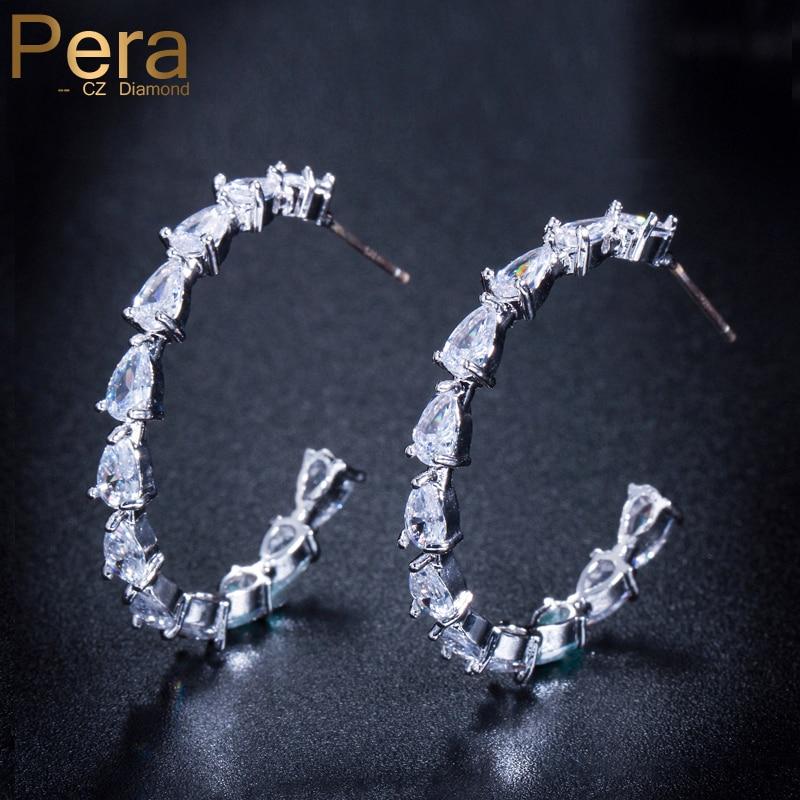 533c811b4f73 Cheap Pera Venta caliente fiesta oído círculo de plata esterlina 925 joyería  de moda gran ronda