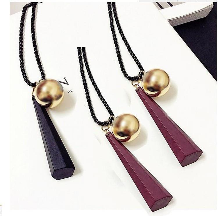 930988858086 Meyfflin collar largo cristal mujeres collar joyería 2019 moda negro ...