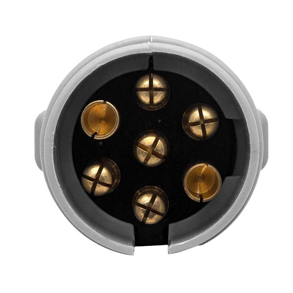 12S 7 Pin Steker Plastik Truk Kafilah Adaptor Trailer Listrik Plug Socket Towing Kemping