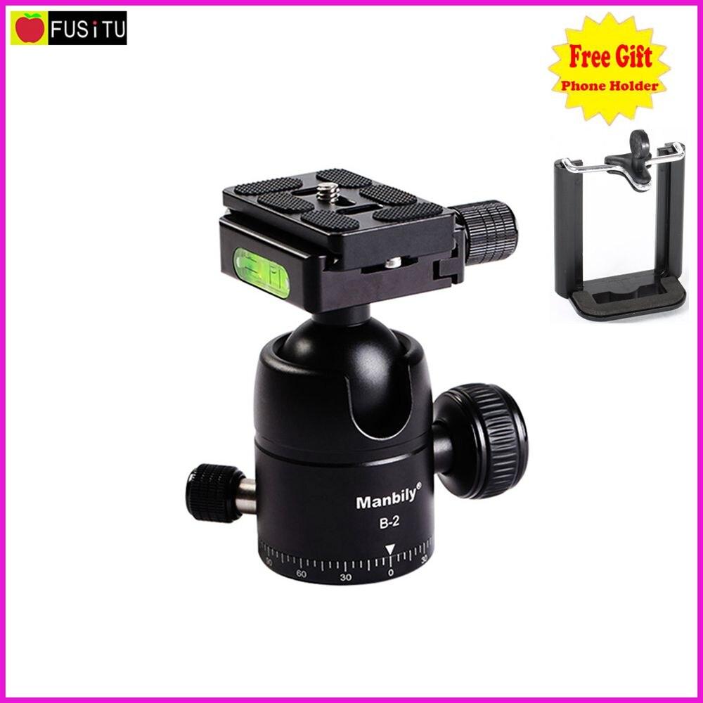 Б-2 Профессиональный Manbily Штатив Heads Универсальный Шаровой Головкой с Быстрый Монтаж Плиты Камеры Штатива для Цифровой Зеркальный Фотоаппарат Canon Nikon