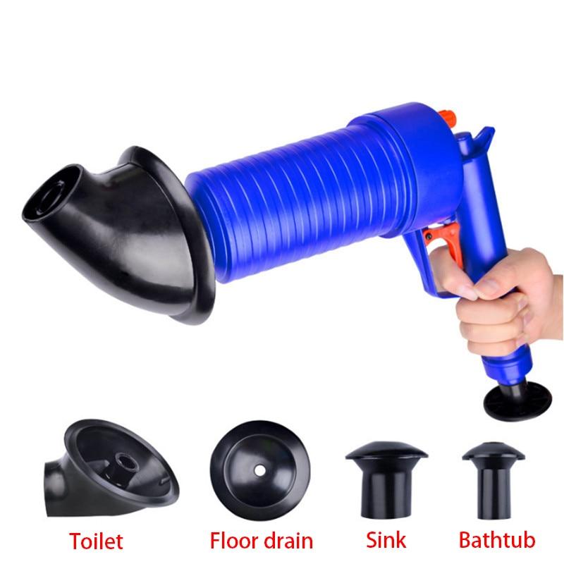Haushaltsreinigung Freies Porto Hochdruck Pumpe Reiniger Dredge Toilette Kolben Air Drain Blaster Waschbecken Rohr Verstopfte Entferner Bad Rohr Badewanne