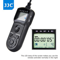 JJC Camera Multi Function Controller Shutter Release Cord Timer Remote for Canon G1X Mark III/80D/760D/750D/G3 X/1100D/SX60HS
