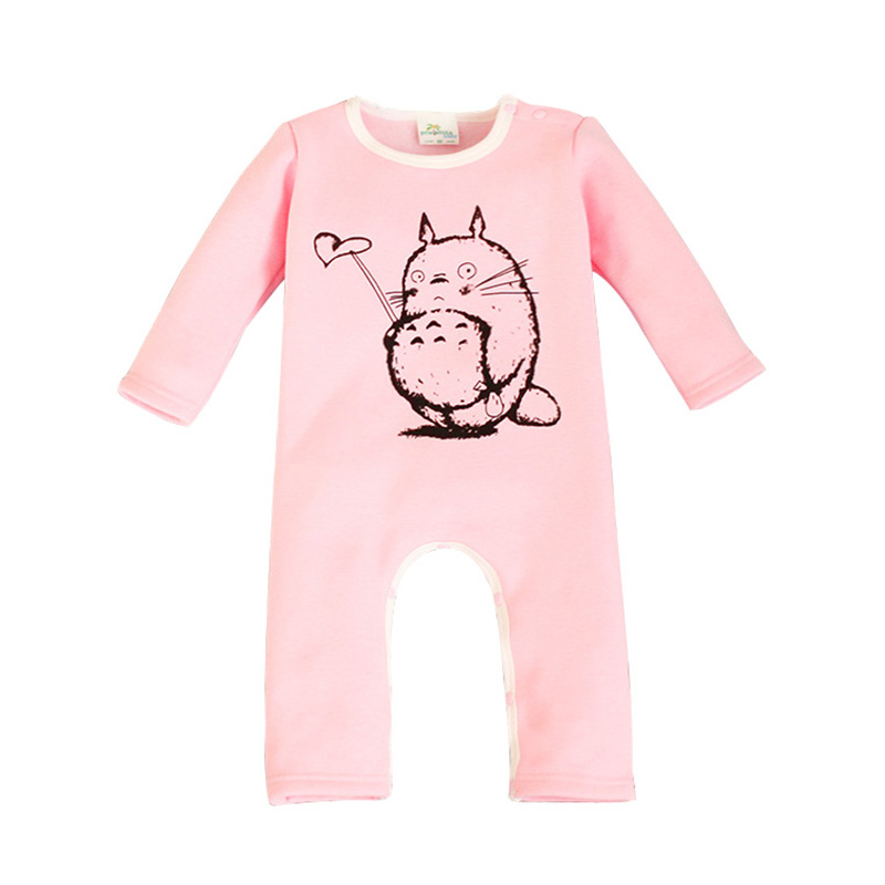 Boys Girls Baby Rompers Cartoon Totoro Children Clothes Warm Thick Jumpsuits Newborn Winter Autumn Kids Costume Outerwear cotton baby rompers set newborn clothes baby clothing boys girls cartoon jumpsuits long sleeve overalls coveralls autumn winter