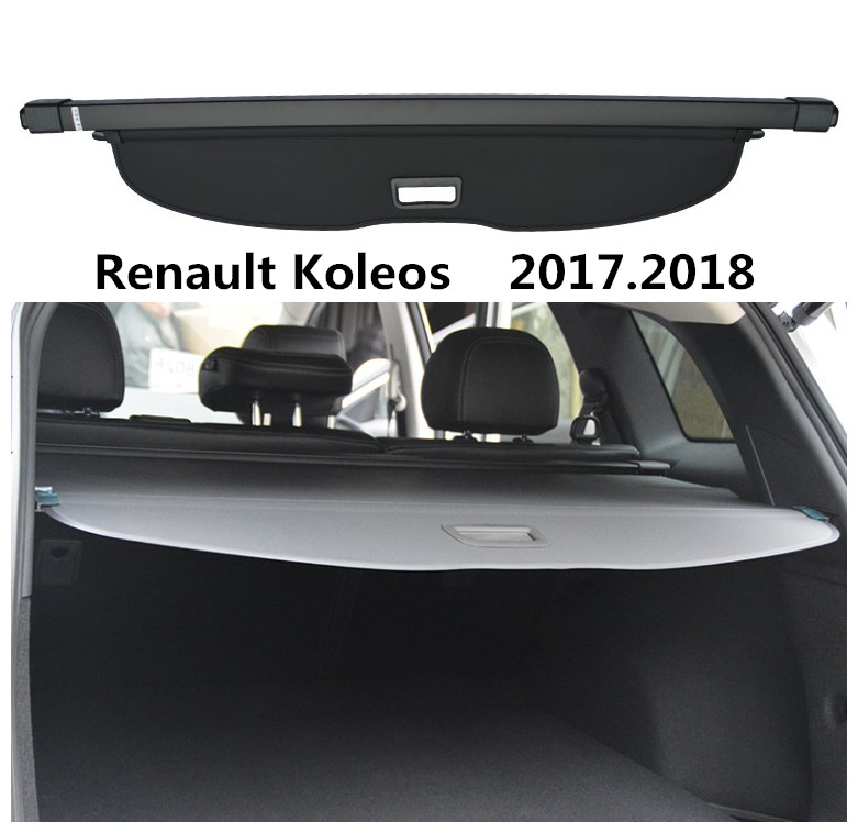 For Renault Koleos 2017.2018 Car Rear Trunk Security Shield Cargo Cover High Quality Trunk Shade Security Cover car rear trunk security shield cargo cover for ford escare kuga 2016 2017 high qualit black beige auto accessories
