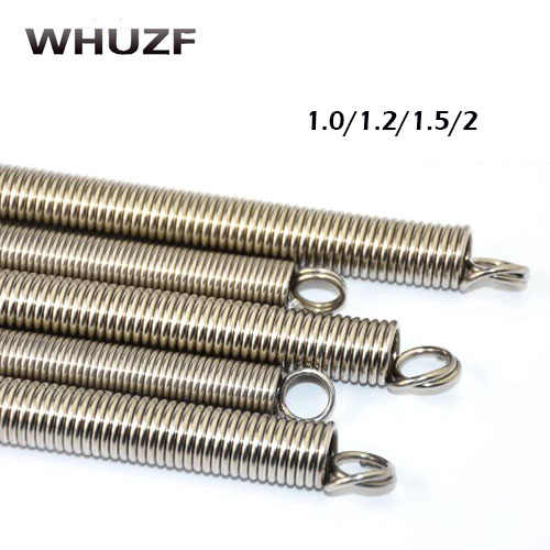 Spring 2pcs High quality metal long extension springs 1.0/1.2/1.5/2mm wire diameter x (6-17)mm out diameter x 300mm length
