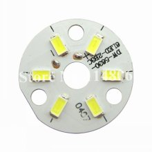цена на 10pcs 3W 9V 300mA 300LM Pure White 6000K~6500K 5630 5730 SMD LED With 33mm MPCB AL Base For Light Bulb