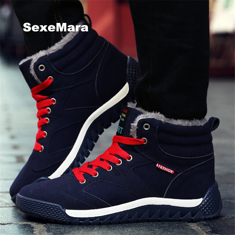 2017 winter running shoes for men cashmere warm snow cotton shoes men and women sneakers shoes outdoor sports shoes large size new 2017 hats for women mix color cotton unisex men winter women fashion hip hop knitted warm hat female beanies cap6a03
