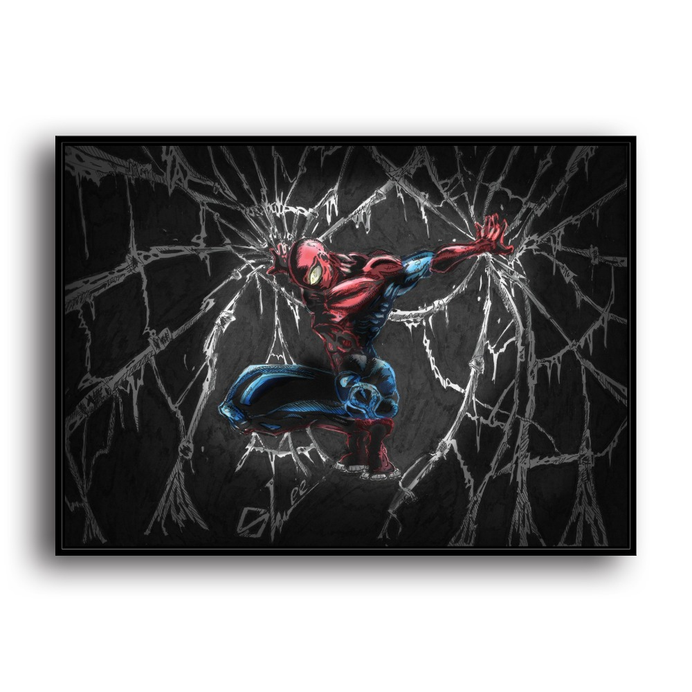 Home Decor Frank Sr101961 Jumping Spider-man Superman Movie Hero .hd Canvas Print Home Decoration Living Room Bedroom Wall Pictures Art Painting