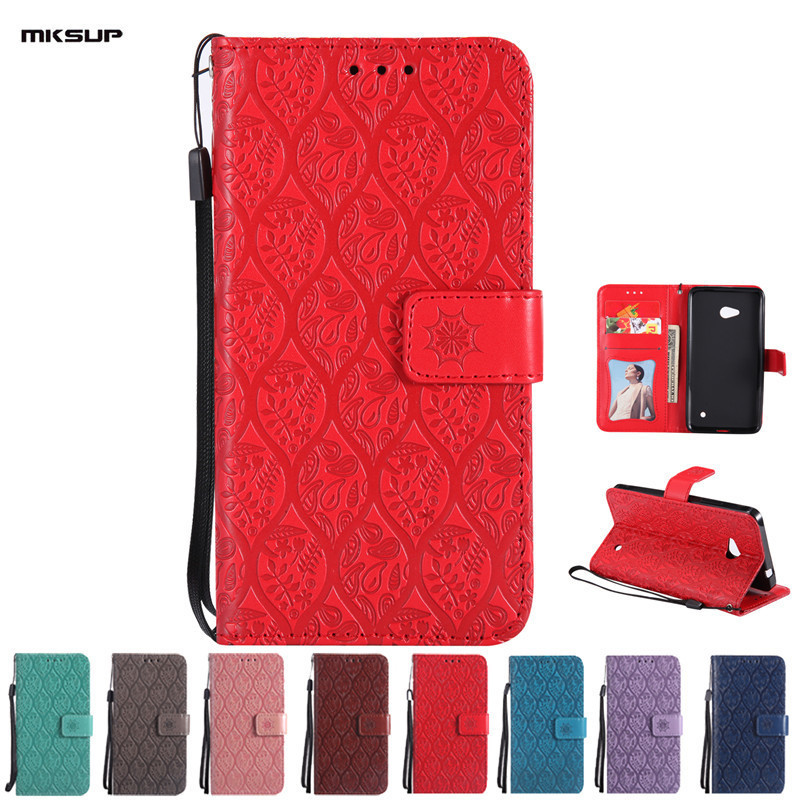 MKSUP For Microsoft <font><b>Nokia</b></font> Lumia 640 LTE Leather Wallet <font><b>Phone</b></font> <font><b>Case</b></font> Flip Stand Coque Cover with Lanyard for <font><b>Nokia</b></font> Lumia N640