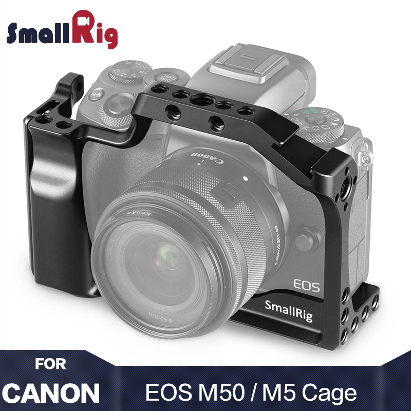 SmallRig M50 Camera Cage For Canon EOS M50 / For Canon M5 For Vlog W/ Nato Rail Cold Shoe Mount For Video Vlogging 2168