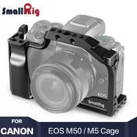 Smallrig m50 gaiola da câmera para canon eos m50/para canon m5 para vlog com trilho da otan sapata fria montagem para vídeo vlog 2168