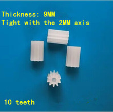 Wholesale model plastic single spindle gear DIY toy iron shaft parts science invention thickened 102A manual material