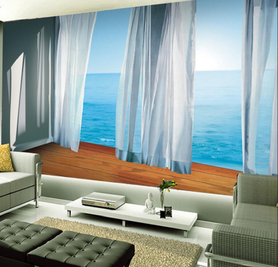 large photo wallpaper balcony mural 3d room wall paper landscape 3d wall murals papier peint 3d. Black Bedroom Furniture Sets. Home Design Ideas