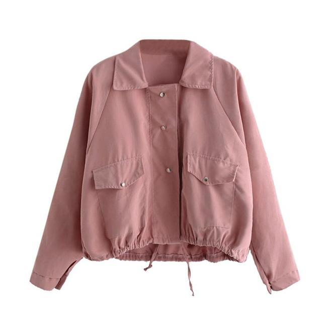 2017 Fashion Pretty Bomber jacket Women Autumn Fashion Short Pink ...