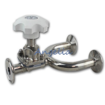 """1"""" Pipe OD 25mm Sanitary Stainless Steel 316L Tri-Clamp OD 50.5mm Diaphragm Valve Silicone"""