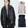 TIC-TEC women solid color with hooded Outerwear Coats Vest solid color with hooded zipper casual fashion outwear P2723