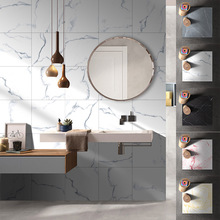 30x30cm 3D Wall Sticker Thick Wear-resistant Waterproof Marble Pattern Tile Floor for Nordic Home Decor
