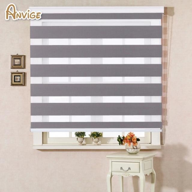 Canada Usa Zebra Blind Shutter Curtains Roller Shutter Double Layer Shade Blinds Custom Made