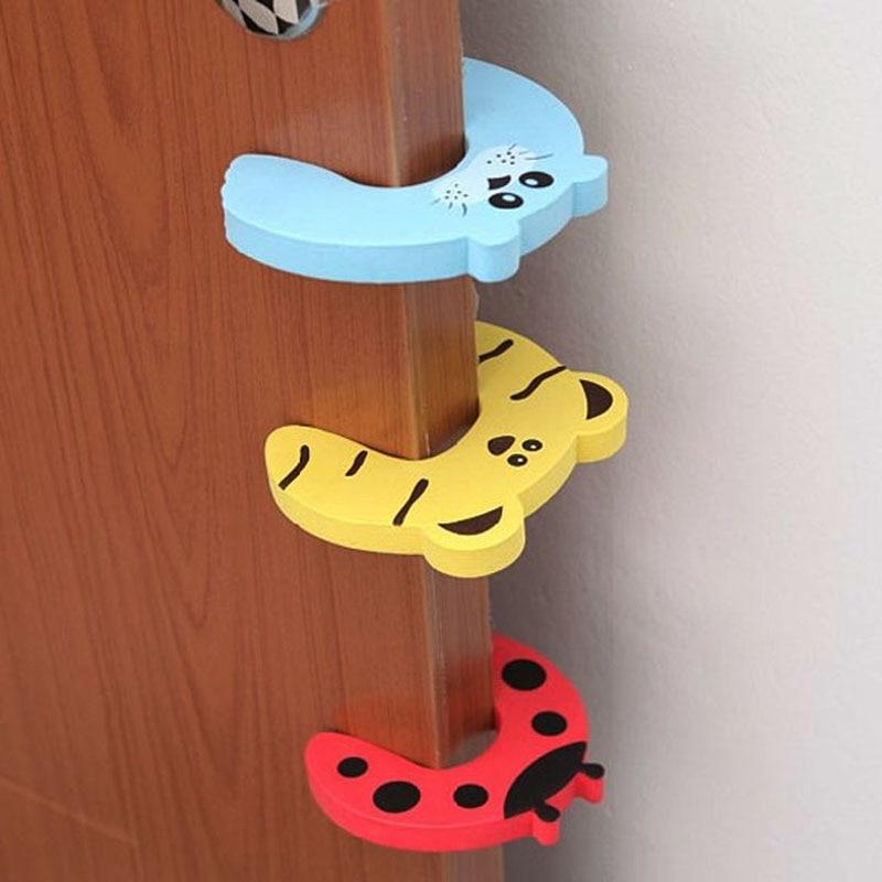 10pcs set Baby Safety Door Card Protector Kids Child Cartoon Door Edge Corner Stopper Clip Security