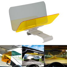 купить 32*12cm Car Sun Visor HD Anti Sunlight Dazzling Goggle Day Night Vision Driving Mirror UV Fold Flip Down Clear View Mirrors по цене 643.15 рублей