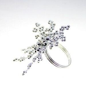 Image 5 - Darmowa wysyłka pearl obrączka na serwetki koraliki serwetnik na ślub wiele kolorów 12 sztuk