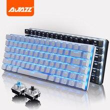 Ajazz Geek AK33 LED Backlit Usb Wired illuminated Gaming Mechanical Keyboard Gamer Ergonomic Multimedia Blue / Black Switch New