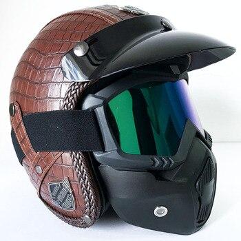 Vintage Full Face Motorcycle Helmets for Retro Moto Motocross Helmets Motorbike Scooter Mask Accessories Yamaha etc.