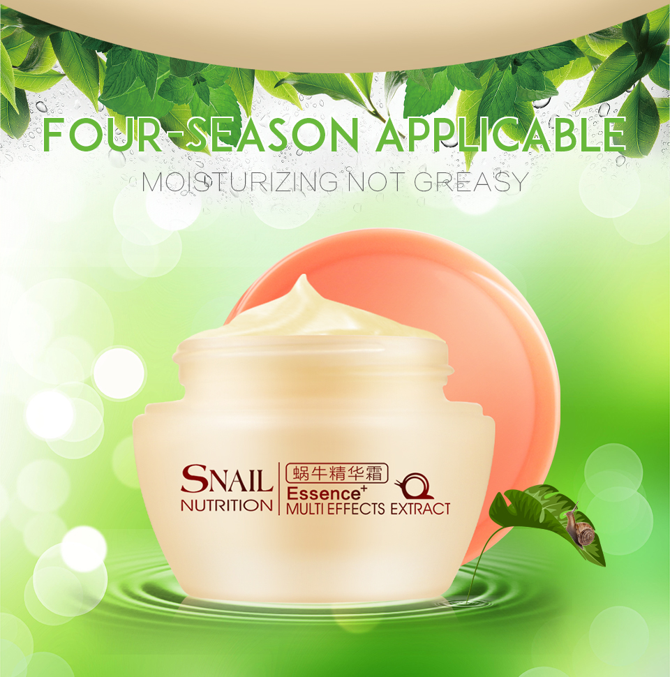 Brand Natural Snail Nutrition Essence Extract Face Cream 50g Moisturizing Whitening Oil Control Acne Treatment 2