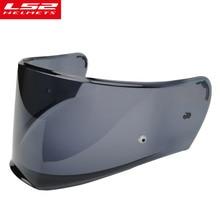 LS2 FF390 Breaker cromato casco lente trasparente argento fumo arcobaleno visiera solo per LS2 FF390 con Trattamento Anti-fog Pinlock foro