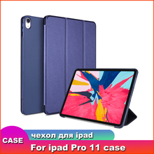 Smart Cover for iPad Pro 11 2018 Case,Aiyopeen Magnetic PU Leather Flip Soft TPU Back Smart cover for iPad Pro 11 inch Case case for ipad pro 10 5 esr pu leather translucent back hybrid soft bumper corner slim smart cover case for ipad pro 10 5 inches