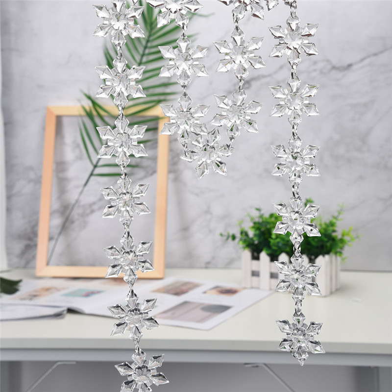 Christmas Decorations For Home Acrylic Snowflake New Year ...