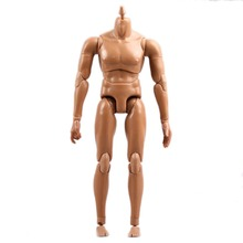 wamami 1 6 Scale Brown Skin Male Action Figure Body