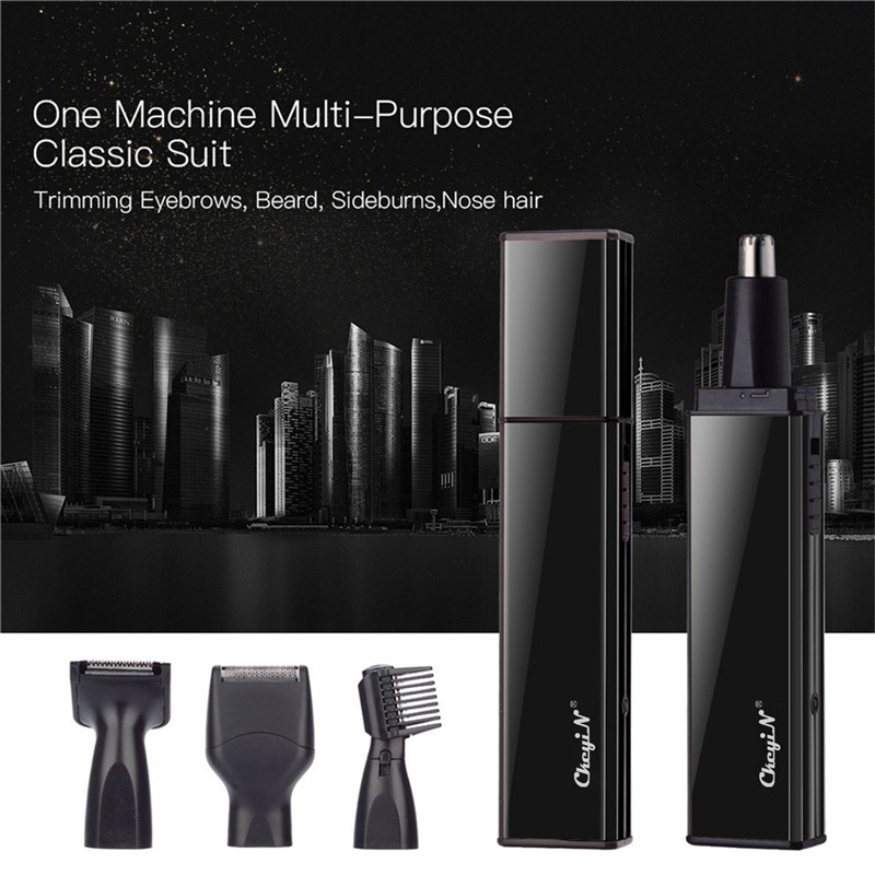 4 In 1 Electric Nose Trimmer USB Rechargeable Shaver Men Face Hair Removal Beard Ear Sideburns Eyebrow Shaper Clipper P36