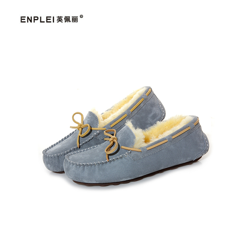 ENPLEI Winter ankle shoes Women s Sheepskin wool boots snow shoes  thickening fur warm shoes flat casual shoes Free shipping. В избранное.  gallery image bf5a649f05cf