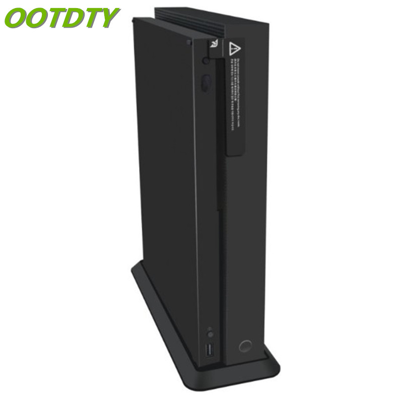 OOTDTY Non-slip Vertical Host Stand Cooling Base Holder For Xbox One X Game Console