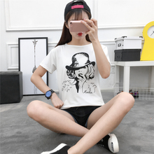 The New Spring And Summer 919 Large Size Women Sexy Clothes Loose T-shirt Student Dress Couture Shot
