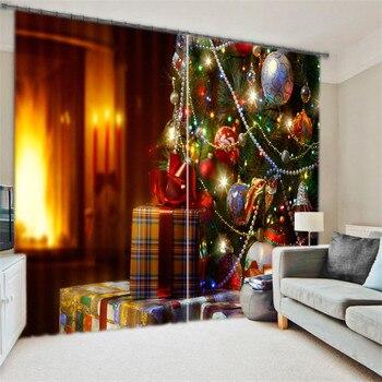 Роскошные плотные 3D окна шторы для гостиная Дети Спальня Шторы Cortinas Rideaux индивидуальные размеры Рождество подушки крышка