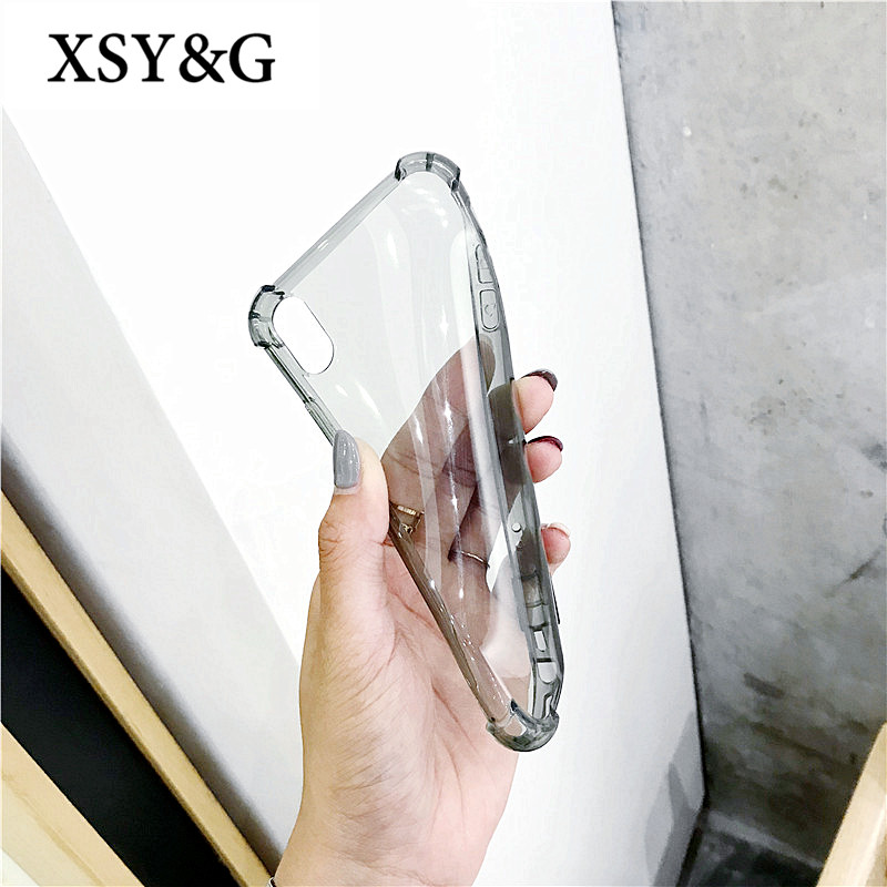 Luxury Anti-knock Shockproof Clear Phone Cases For iPhone 7 Case For iphone 6 X 8 6S Plus Soft Silicone Back Cover Coque Funda