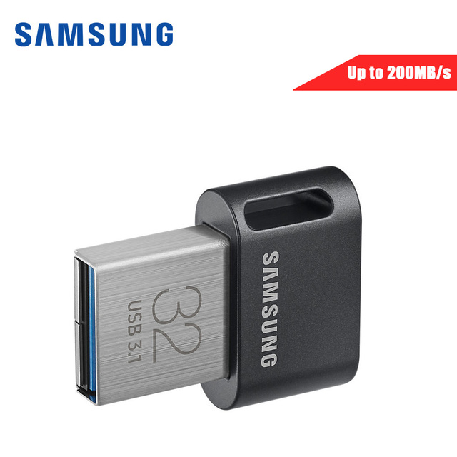 Original Samsung USB 31 Gb Pendrive 32G 64 200 Mb S Metal Mini Usb Flash Drive 128 256 300 U Disk Memory Stick