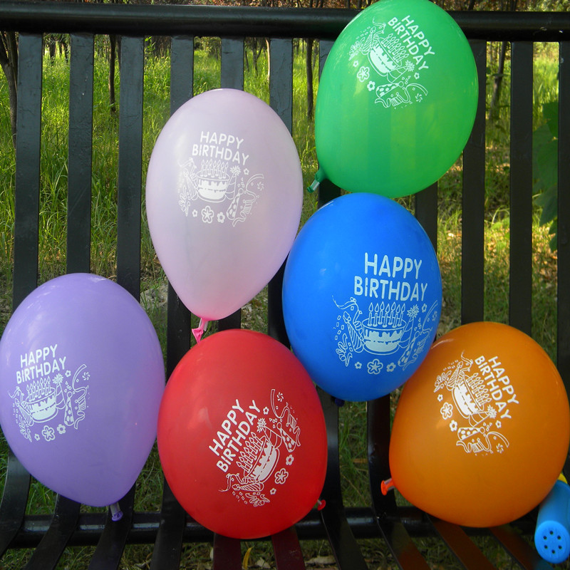 New Promotion Balloons Freeshipping Happy Birthday Balloons Party Celebration Wi
