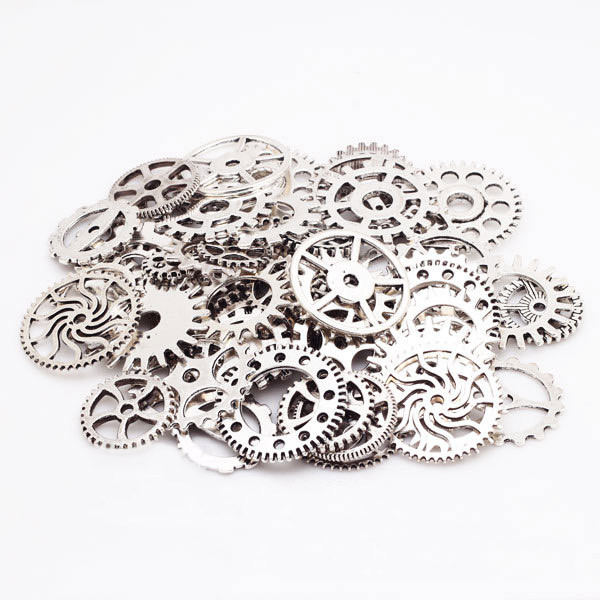 100g Steampunk Cogs and Gears Clock Hand Charms Fit DIY Bracelets Necklace DIY Jewelry Making LL@17