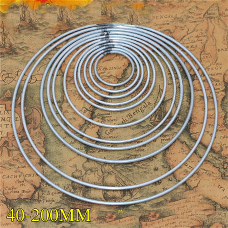 1pack/lot Big Dream Catcher Circle Ring Craft 35-180mm Metal Rings For Dream Catchers Hoops Hanging DIY Jewelry Accessories