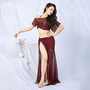 Belly Dance Costume Set For Women Indian Jewelry Oriental Dance Costumes 2019 Bellydance Performance Dance Clothing DQS2186
